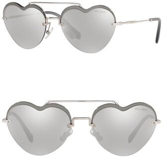 Miu Miu 58mm Irregular Heart Sunglasses