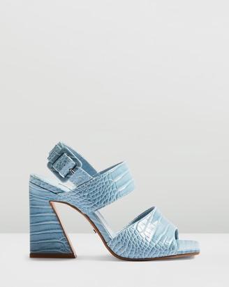 Topshop Natasha Flare Croc Heels