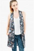 Select Fashion Fashion Womens Black Oriental Floral Sleeveless Jkt - size 6