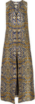 Alice + Olivia Xaviera metallic brocade vest