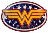 First_Look DC Comics WONDER WOMAN Logo & Stars Metal/Enamel BELT BUCKLE