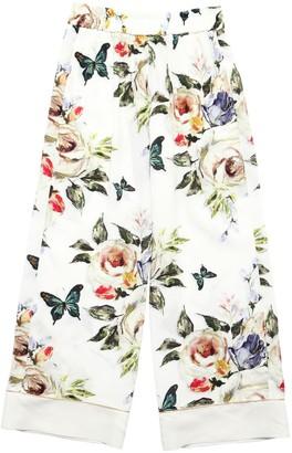 MonnaLisa Floral Printed Satin Pants