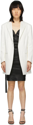 Unravel White Oversized Blazer