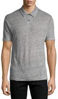 Rag & Bone Owen Heathered-Knit Linen Polo Shirt