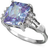 Giani Bernini Lavender and Clear Cubic Zirconia Ring in Sterling Silver, Created for Macy's