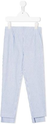 MonnaLisa Striped Two Tone Trousers
