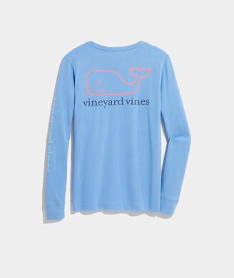 Vineyard Vines Tri-Color Vintage Whale Long-Sleeve Pocket Tee
