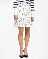 Brooks Brothers Cotton Nautical Print Skirt
