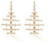 Thumbnail for your product : Fernando Jorge Mini Disco 18kt Gold & Diamond Earrings - Gold