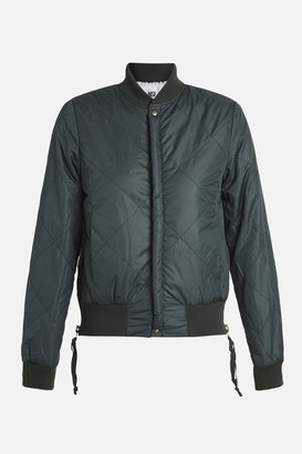 NSF 100% Polyester Neil Side Zip Bomber Jacket