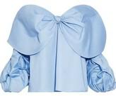 Johanna Ortiz Caravan Off-The-Shoulder Bow-Embellished Cotton-Poplin Blouse