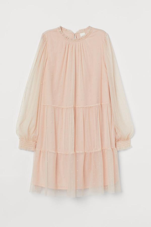 H&M - Wide-cut Dress - Pink