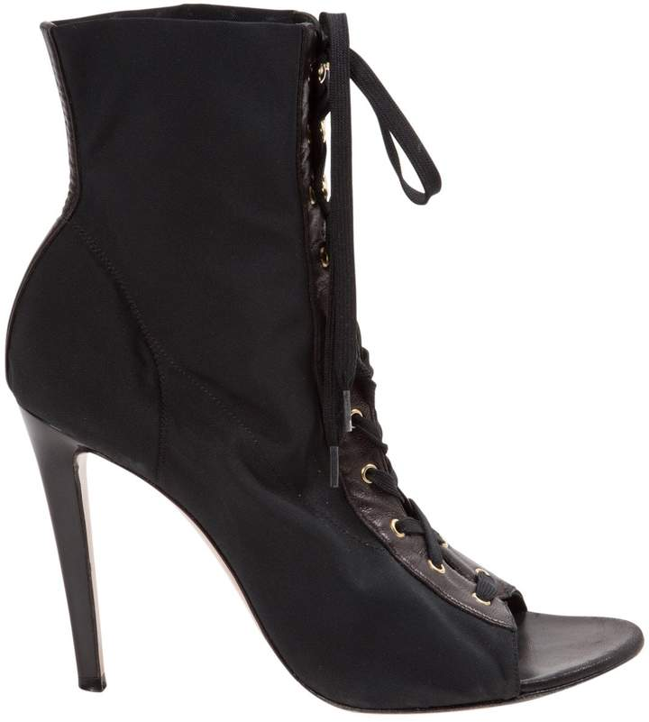 Gianvito Rossi Cloth lace up boots