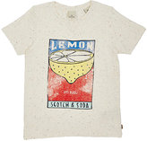 Scotch Shrunk LEMON-PRINT FLECKED COTTON-BLEND T-SHIRT
