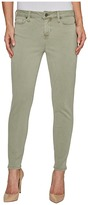 Liverpool Devon Relaxed Ankle Skinny in Stretch Peached Twill in Shadow Green Women's Jeans