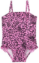KensieGirl Pink Power Animal Ruffle Leg One Piece (2T4T) - 8129704