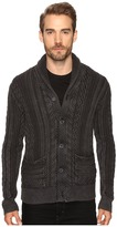 Lucky Brand Snowpeak Cable Shawl Cardigan Sweater