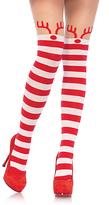 Leg Avenue Stripe Reindeer Pantyhose
