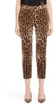 Dolce & Gabbana Women's Leopard Print Ankle Pants
