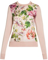Dolce & Gabbana Floral Silk Knit Sweater