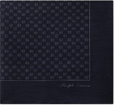 Ralph Lauren Purple Label Square Pattern Linen-cashmere Pocket Square