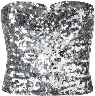 Amen Sequined Strapless Top