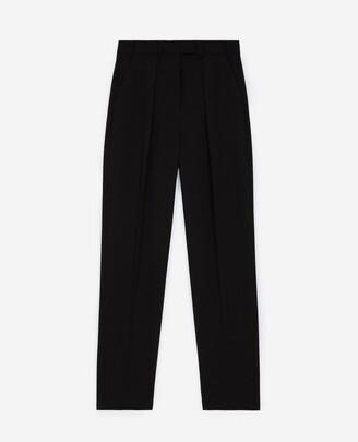 The Kooples Black crepe suit pants with darts