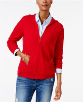 Charter Club Cashmere Zip-Front Hoodie, Only at Macy's