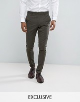 Selected Homme Super Skinny Suit Trouser In Khaki