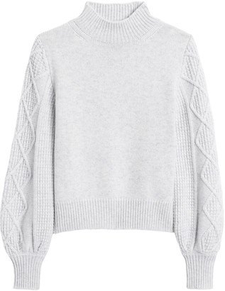 Banana Republic Cashmere Cable-Sleeve Sweater