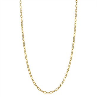 Primavera 24k Gold Over Silver Oval Link Chain Necklace