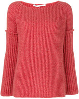Agnona ribbed jumper - women - Polyamide/Camel Hair/Wool - S