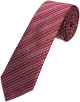Oxford Silk Pinstripes Red X