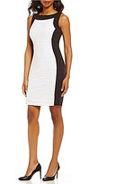 Calvin Klein Wavy Texture Sheath Sleeveless Dress