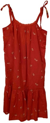 Hatch Red Cotton Dress for Women