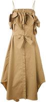 MSGM off shoulder dress - women - Cotton/Spandex/Elastane - 40