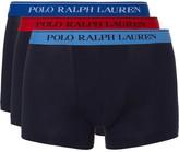 Polo Ralph Lauren Three-pack Stretch-cotton Jersey Boxer Briefs - Navy