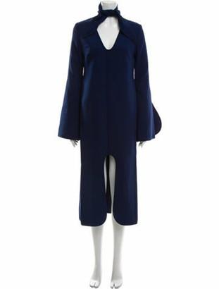 Ellery Mock Neck Knee-Length Dress w/ Tags Blue