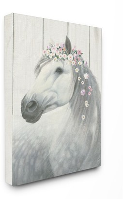 Stupell Home Decor Spirit Stallion Horse with Flower Crown Canvas Wall Art
