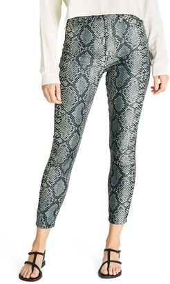 Atica Cindy High Waist Snake Print Ankle Skinny Jeans