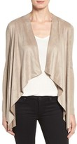 T Tahari Women's 'Milly' Faux Suede Front Cardigan