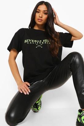 boohoo Petite Beverly Hills Printed T-shirt