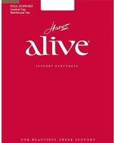 Hanes Alive Womens Nylon Full Support Reinfored Toe Sheer Pantyhose (Pak of 3)