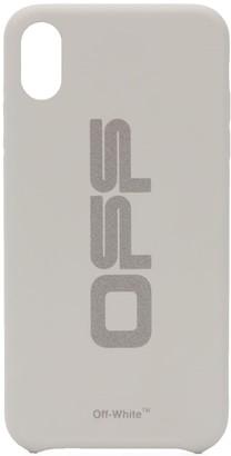Off-White logo-print iPhone XS case