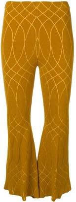 Circus Hotel geometric patterned flared trousers
