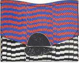 Proenza Schouler Geometric print snakeskin clutch