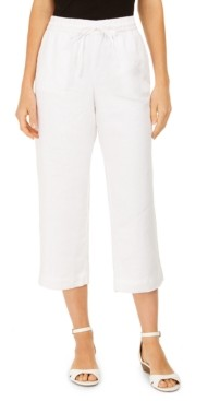 Charter Club Petite Cropped All Linen Pants, Created for Macy's