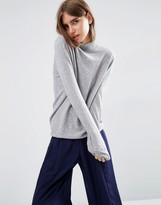 Asos 100% Cashmere Relaxed Funnel Neck Sweater