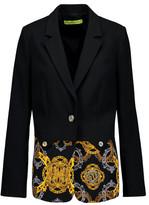 Versace Paneled Printed Crepe Blazer