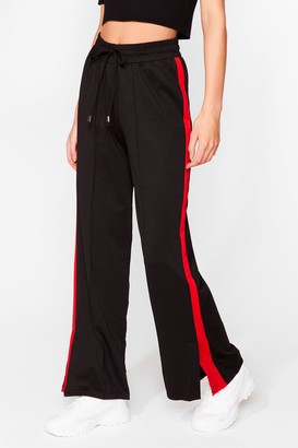 Nasty Gal Womens Just Our Stripe Relaxed Track trousers - Red - S, Red